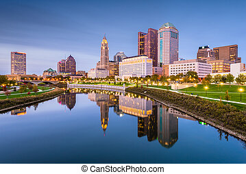 Columbus, Ohio, USA Skyline - Columbus, Ohio, USA skyline on...