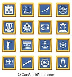 columbus, satz, blaues, tag, heiligenbilder