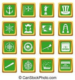 columbus, satz, tag, grün, heiligenbilder