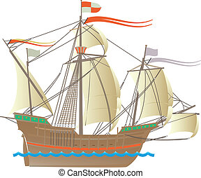 One of the ships of Christopher Columbus's Santa Maria