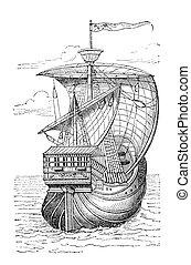 "Columbus ship - ""Ship of Christopher Columbus"". Print from ..."