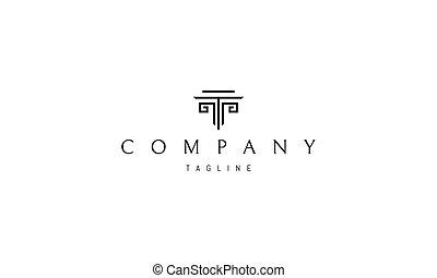 column., 抽象的, ベクトル, ギリシャ語, イメージ, ロゴ