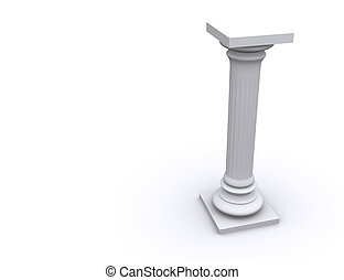 Column 10 - Conceptual ionic-style Greek architecture - 3d...