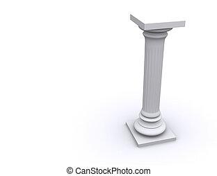 Column 10 - Conceptual ionic-style Greek architecture - 3d...