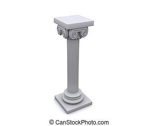 Column 11 - Conceptual ionic-style Greek architecture - 3d ...