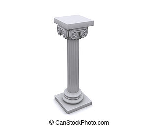 Column 11 - Conceptual ionic-style Greek architecture - 3d...