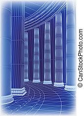 Column architecture. Vector