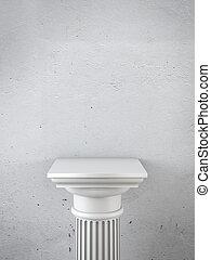 column as pedestal 3d render