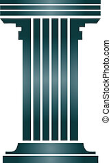 Column building - Ancient ionic greek doric corinthian...