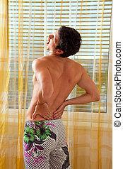 column., dolor, intervertebral, back., espinal, disco