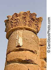 Column from an antique palace - A column on excavation of a...