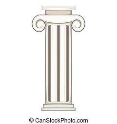 Column icon, cartoon style