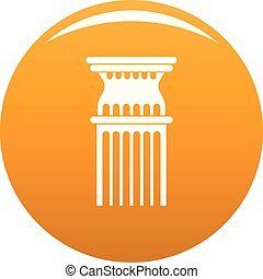Column icon vector orange