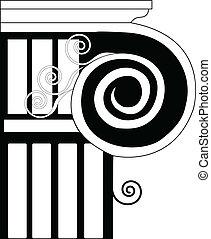 Column Ionic, doric, historical