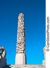 Column of bodies in the Vigeland Park.