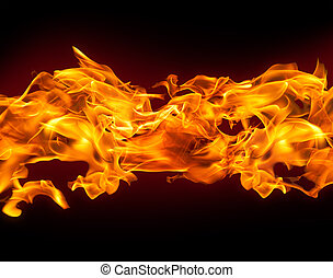 Column of Fire Background