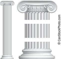 Column Pillar - An illustration of a classic Greek or Roman...