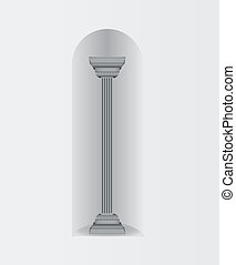 Column wall oval arch
