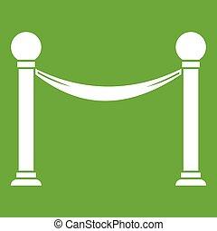 Column with ribbon icon green