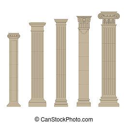 columna, 2, conjunto