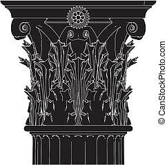columna, griego, corintio