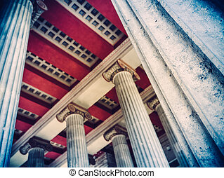columna, pilares, romano, antiguo