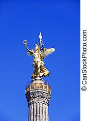 columna, siegess?ule, berlín, alemania, victoria