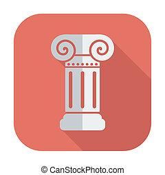 columna, solo, icon.