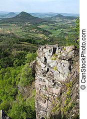 Columnar basalt at Hungary, Badacsony