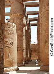 columned hall in karnak temple