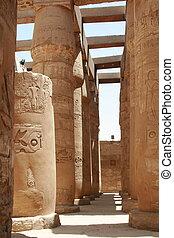 columned hall in karnak temple