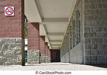 columned, hallway, natuur, aanzicht