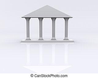 Columns 01 - Conceptual ionic-style Greek architecture - 3d...