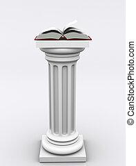 Columns 02 - Conceptual book on roman column - 3d render