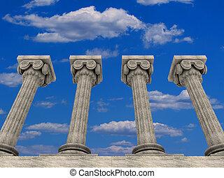 Columns 14 - Conceptual ionic-style Greek architecture - 3d...