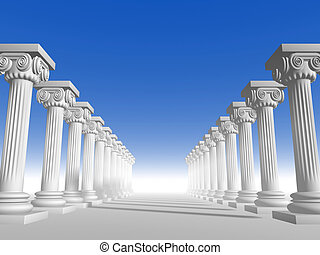 Columns 15 - Conceptual ionic-style Greek architecture - 3d...