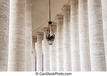 Columns at Saint Peter's Square, Vatican