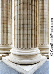 Columns at the entrance