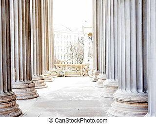 columns at the parliament in vienna
