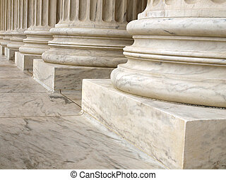 Columns at the United States Supreme Court in Washington DC