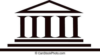 Columns ancient greek historic building