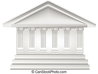 Columns building logo - Columns ancient greek historic bank...