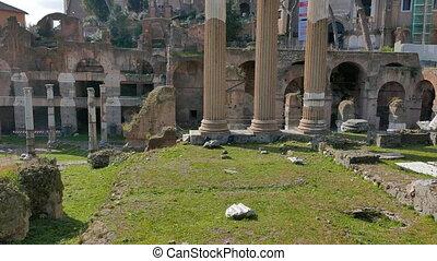 Columns forum. Rome, Italy. UltraHD (4K)