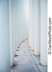 Columns from the Philharmonie theathre in Luxembourg city