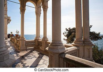 Columns, Miramare castle, Trieste - Italy