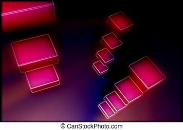 Columns of 3D Rectangles Spinning
