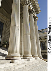 columns of courthouse - columns and stairs of courthouse