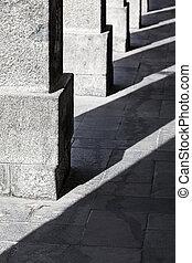 columns of granite