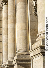 Columns Of Justice - Detailed View Of Columns From A...
