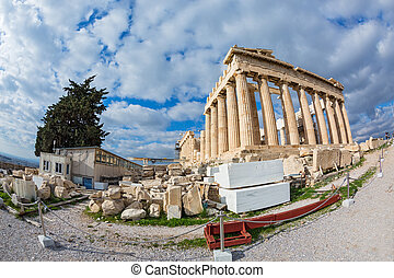 Acropolis in Athens,  Parthenon temple